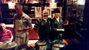 Kevin and Ann Buechler serving Irish Stew Cookoff.